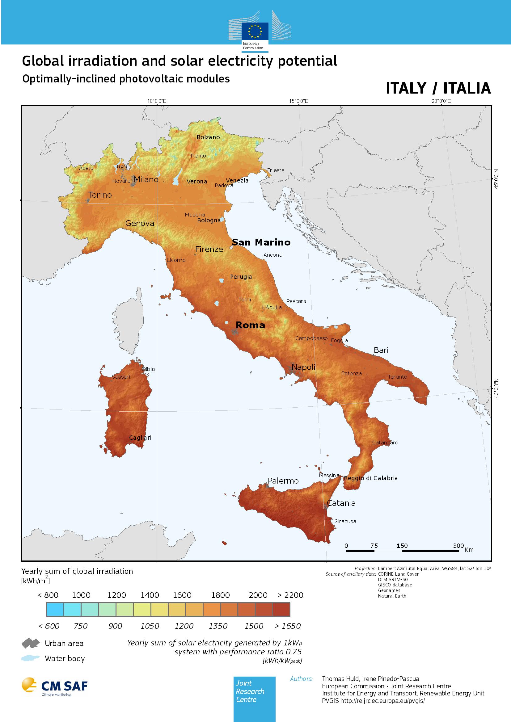 Rendimento Fotovoltaico Italia e Preventivi