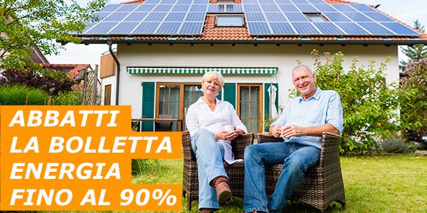 RISPARMIA FINO AL 90% SUL COSTO DELL'ENERGIA
